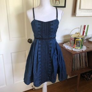 Free People Sz 4 Denim Dress